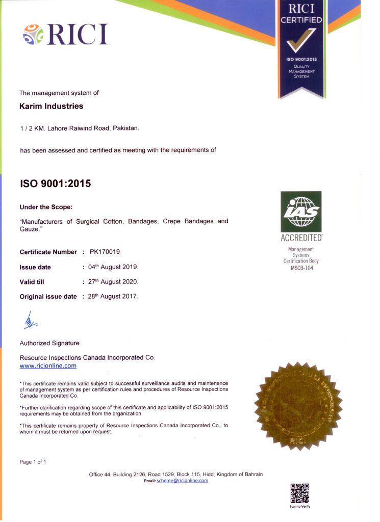 ISO 9001-2015 valid 27.08.2020