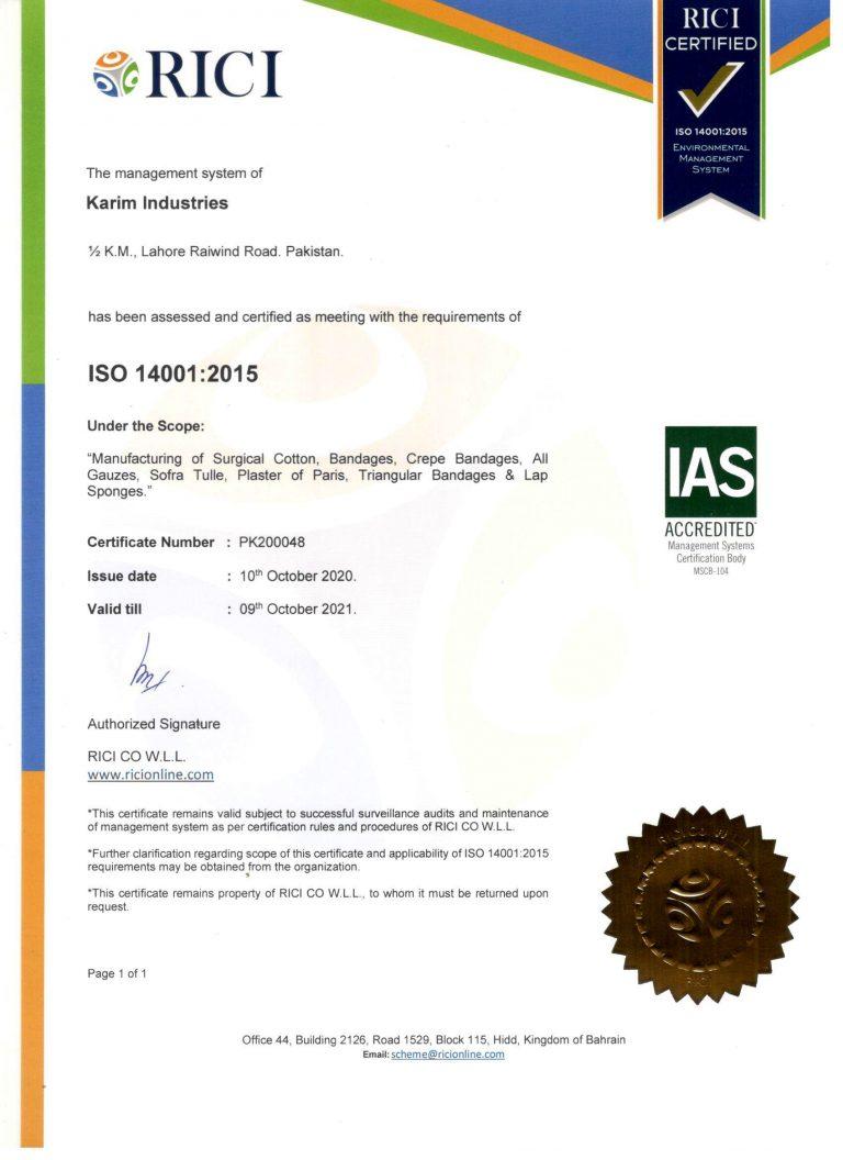 ISO 14001-2015 Valid 09.10.2021